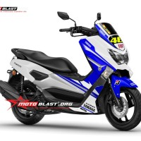 Decal Yamaha N-Max white blue GP 46 Vale