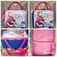 Tas Travel Bag Spons Medium Frozen Pink Biru Disney / Koper Anak