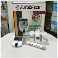 Multi monitoring autocheck/ Alat Cek Gula Darah, kolesterol, asam Urat