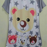 STLN- DRESS Bear Star Gray