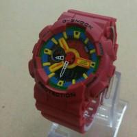 Jam Tangan G-Shock GA-110 combine Red,blue yellow Doible time kw super