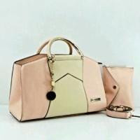 Jual charles & keith 8819 semi super set pouch 30x12x18(peach) Murah