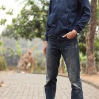 Jual jaket jacket sweater nike hoodie basic classic zipper original - blue Murah