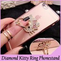 Ringstand Diamond Hello Kitty LV Channel Apple Premium | Ring Holder