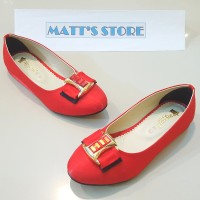 Flat Shoes Anak (A 24) - Red - 28 s/d 35