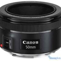 Canon Lensa Ef 50mm F1.8 STM Free Filter Uv Garansi Resmi