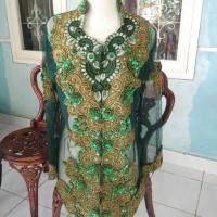 Preloved Kebaya size XL bonus Manset panjang+kerudung sanggul