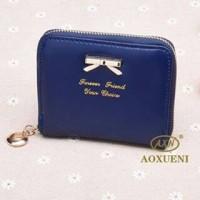 Mini Ribbon Wallet NAVY BLUE Dompet Wanita, Cewek Koin Import Korea