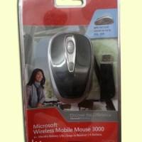 Microsoft Wireless Mobile Mouse 3000 (Black)