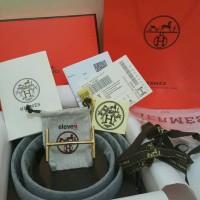 Premium Ikat Pinggang Sabuk Gesper Hermes Branded Slim Leather