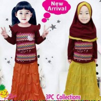 ecer muslim rok hijab hello kitty grosir baju anak little pineapple