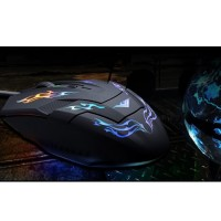 MOUSE GAMER GAMING USB Notebook PC Komputer 4 shift 2400 dpi Game LED