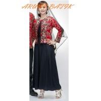 Gamis Long Maxi Dress Batik 1542 Merah
