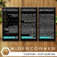 Home Decor Hiasan Rumah Kaligrafi Kufi Ayat Seribu Dinar