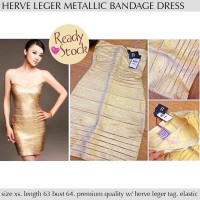 harga Herve leger metallic bandage dress Tokopedia.com