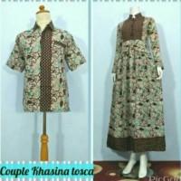 harga gamis batik couple Tokopedia.com