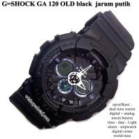 JAM CASIO G-SHOCK GA 120 DUAL TIME FULL BLACK KW SUPER