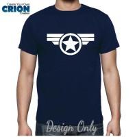 Jual Kaos Captain America Civil War - Captain America Logo - By Crion Murah