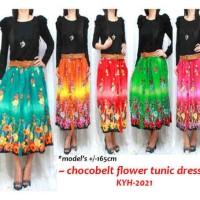 Iyesh Busana Baju Muslim Gamis Dress IYNN2021 - 2021 Dress Chocobelt