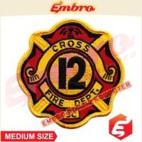 Aksesoris Bordir Jaket Departemen Api Kebakaran v1