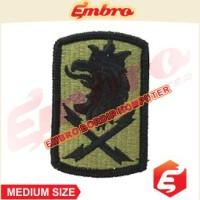 Badge Logo Bordir Simbol Militer Garuda Raja