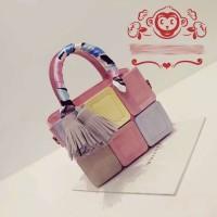 harga tas korea mini fashion miu miu wall unik lucu kotak import Tokopedia.com
