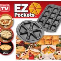 EZ Pockets Teflon Besar Cetak Pizza Apple Pie Cake Martabak Wajan Uni