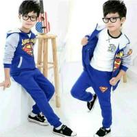 Setelan jaket supermen uk2/4thn
