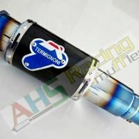 Knalpot Termignoni GP Rossi Carbon Half Blue