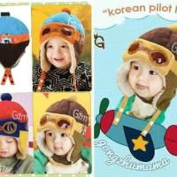 Topi Bayi Anak Topi Pilot Korea (Korean Pilot Hat),