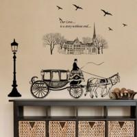 Kereta Kuda JM7307 - Stiker Dinding / Wall Sticker