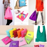 Jual grab baggu shopping bag tas kantong belanja lipat go green tnp trolley Murah
