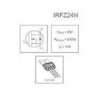 Komponen Irfz24n ( Mosfet Irfz24n )