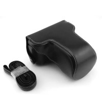 Leather Case for Fujifilm X-M1/X-A2 - HITAM