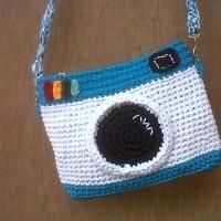 harga Tas Rajut Wanita Instagram Small Size Biru Putih (+ Furing N Reslet ) Tokopedia.com