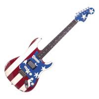 Fender Wayne Kramer Signature Flag Stratocaster Electric Guitar Ori