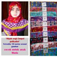 hijab / jilbab terbaru segi empat 2 motif polkadot