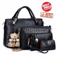 Tas Fashion Wanita Import Style Korea B4699 Black 4 in 1