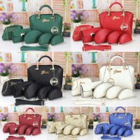 Tas import Guess Luxe Mary Leather Embos Semi Premium