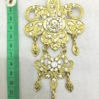harga Bros kebaya/kutubaru/hijab metal juntai 2 tingkat gold swarovski putih Tokopedia.com