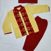 Baju Koko Anak Setelan Full Katun (Size 1-3)