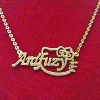 Kalung Nama Lapis Emas Kitty Gold  Fashion  Aksesoris  Jewelry  Unik