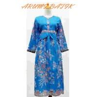 Gamis Long Maxi Dress Baju Muslim Muslimah Anak Batik 1520