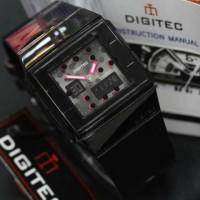 Jam Tangan Wanita Digitec Original Double Time Hitam