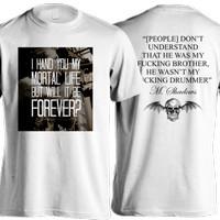 Kaos Avenged Sevenfold / Drummer / Tshirt A7X / Putih