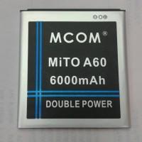 baterai mito A60 double power merk mcom