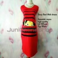 harga Baju Hamil Unik Midi Dress Karakter Maternity Dress BabyPeek 1 Merah Tokopedia.com