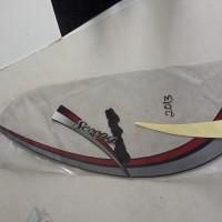Lis / striping Honda scoopy karbulator 2012/2013 hitam merah