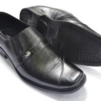 Sepatu Pantofel Pria Crocodile Kulit Asli Murah Branded Hitam A13