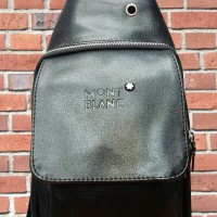 [New] Tas Selempang Pria Kulit Import Mont Blanc Best Seller!